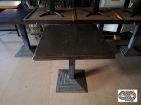 Lot 8 tables de brasserie - 70x70 - plateau SM FRANCE