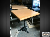 Petit lot de 6 tables carrées 60 x 60