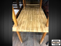 Lot 6 tables restaurant plateau résine aspect bois