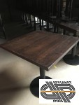Lot 79 tables restaurant plateau bois pied fer